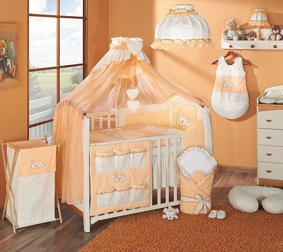 Luxusní mega set s moskytiérou - Snílek pomeranč