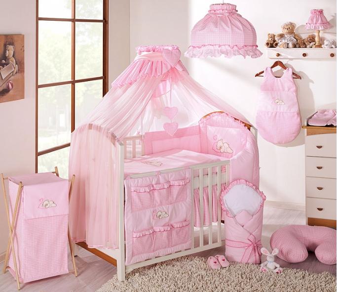 Luxusní mega set s moskytiérou - Snílek růžový