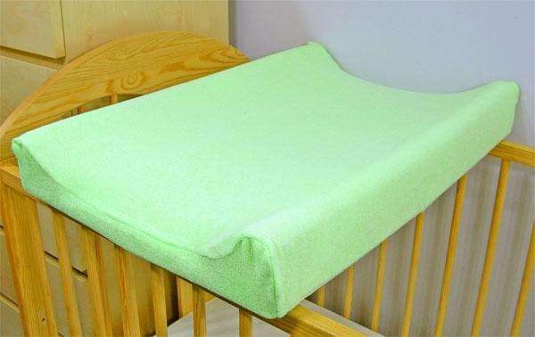 Froté potah na přebalovací podložku - zelený