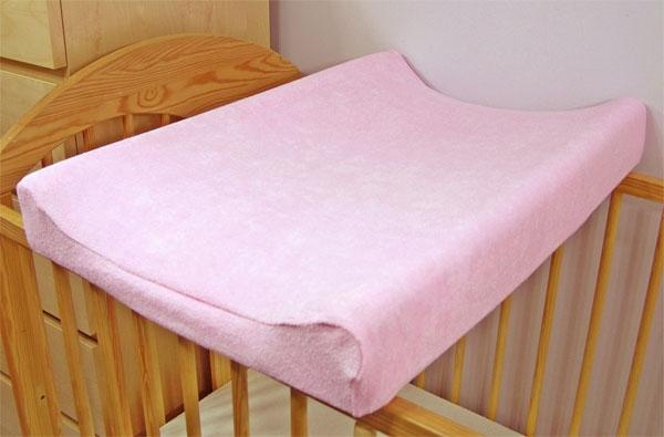 Froté potah na přebalovací podložku - růžový