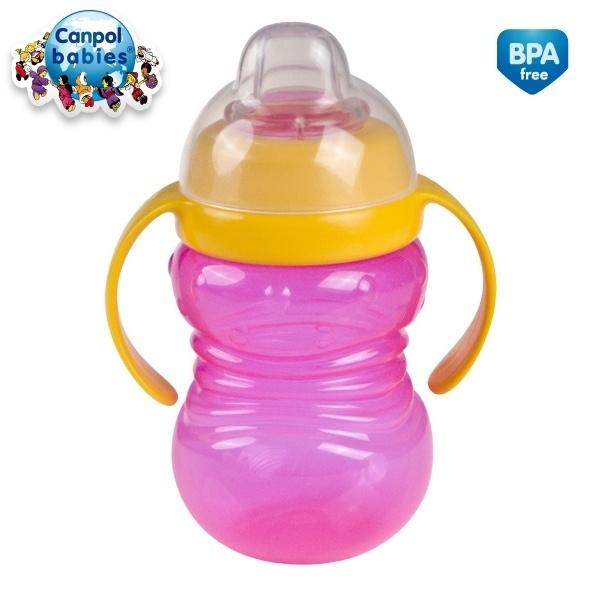 Canpol Babies Sportovní hrneček s úchyty - růžová