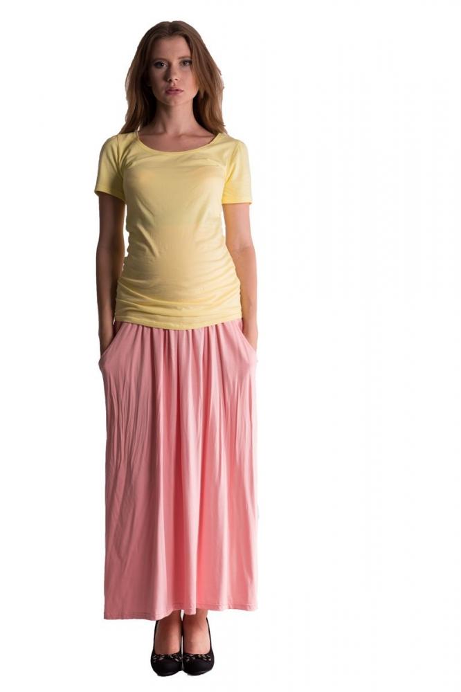 Maxi dlouhá sukně MAXINA - sv. lososová