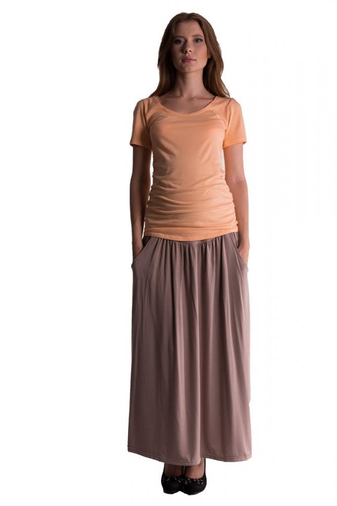 Maxi dlouhá sukně MAXINA - béžová/cappuccino