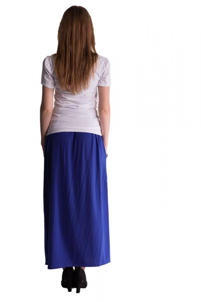 Maxi dlouhá sukně MAXINA - tm.modrá/chaber