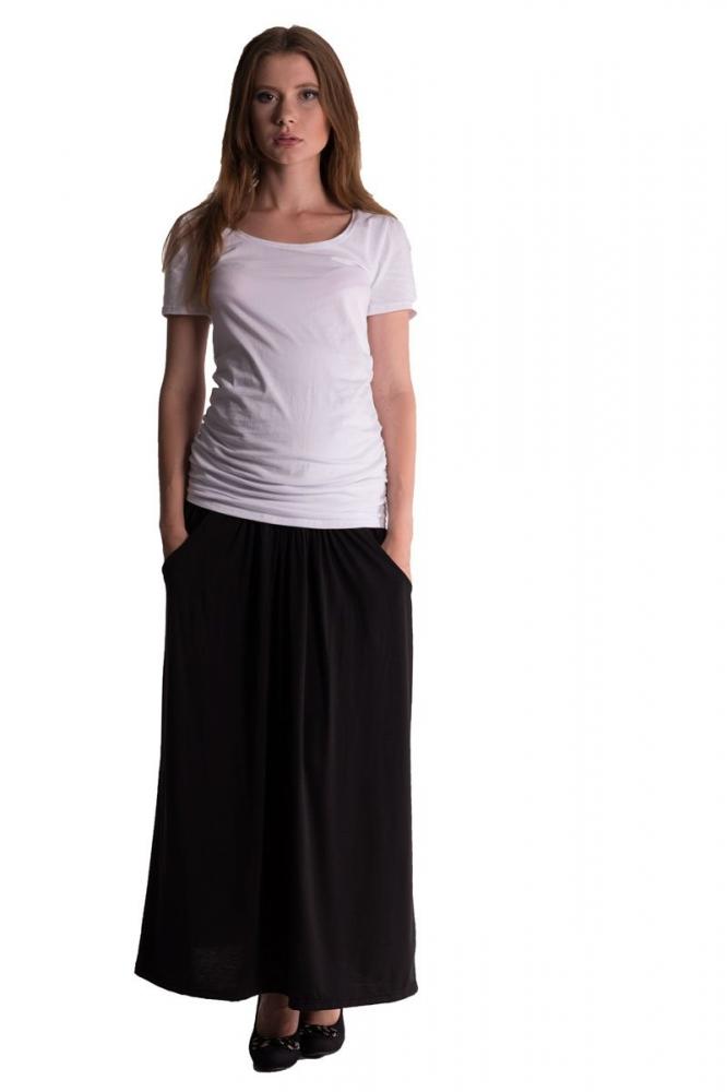 Maxi dlouhá sukně MAXINA - černá