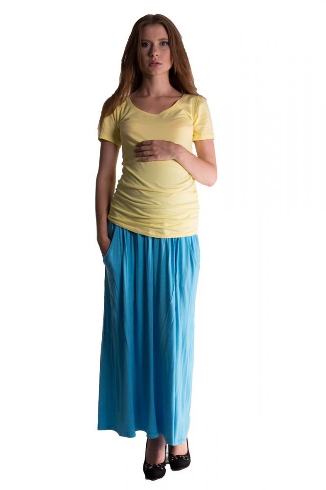 Maxi dlouhá sukně MAXINA - tyrkysová