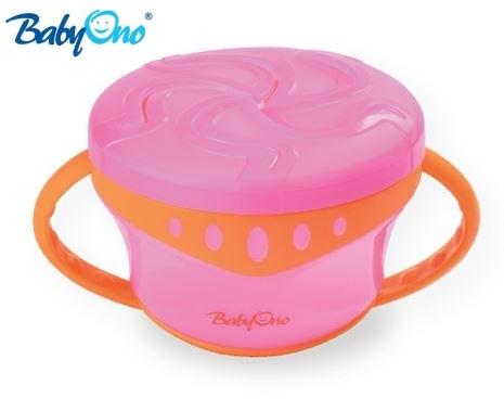 Miska na svačinku Baby Ono - růžová/oranž