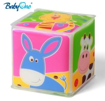 Edukační kostka Baby Ono 1 ks - Zvířátka MIX