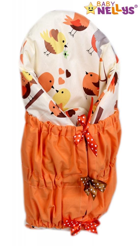 Zavinovačka, peřinka de lux - Béžoví ptáčci/oranž