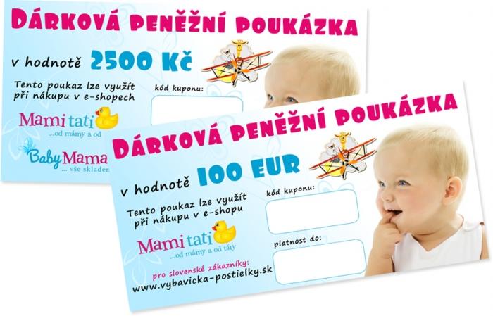 Dárkový poukaz Mamitati.cz v hodnotě 2500kč/100eur