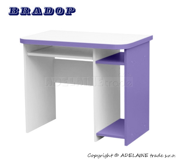 Psací/počítačový stůl Casper Dale - fialový/lila