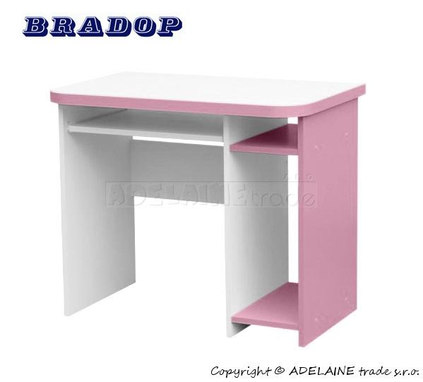 Psací/počítačový stůl Casper Dale - růžový