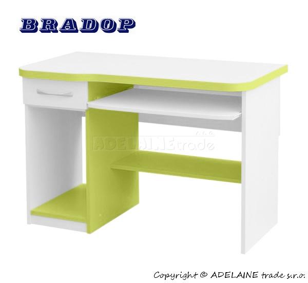 Psací/počítačový stůl Casper Fred - zelený