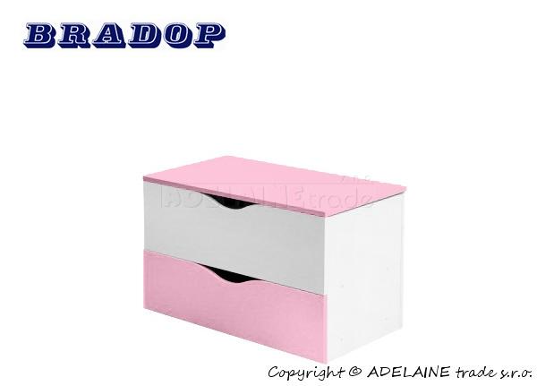 Box/krabice na hračky Casper Bradop - růžová