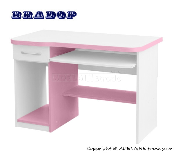 Psací/počítačový stůl Casper Fred - růžový