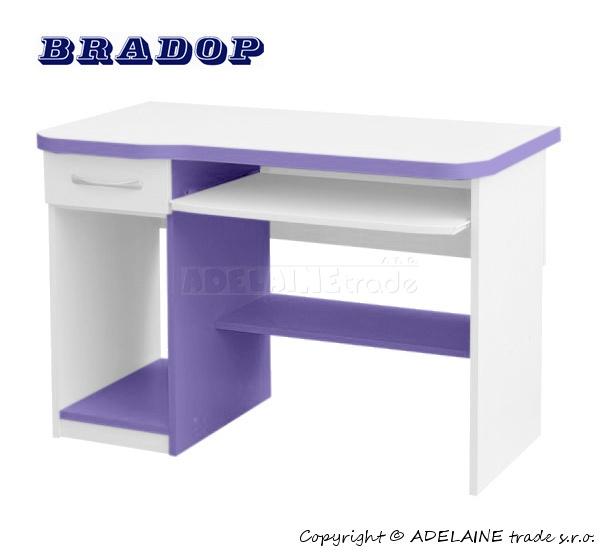 Psací/počítačový stůl Casper Fred - fialový/lila