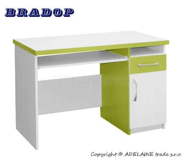 Psací/počítačový stůl Casper Tom - zelený