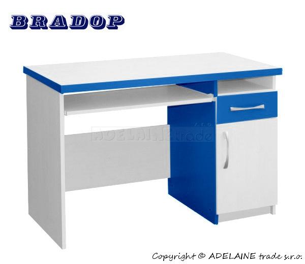 Psací/počítačový stůl Casper Tom - modrý