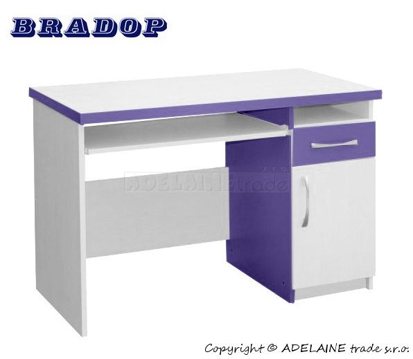 Psací/počítačový stůl Casper Tom - fialový/lila