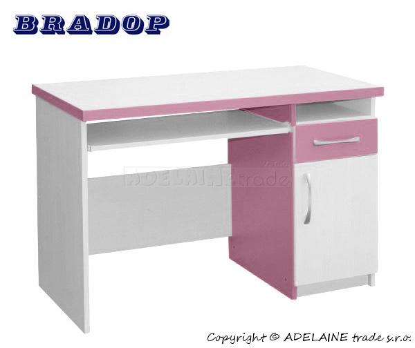 Psací/počítačový stůl Casper Tom - růžový