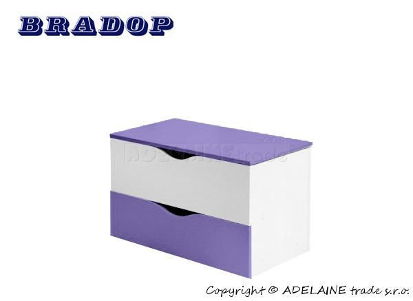 Box/krabice na hračky Casper Bradop - fialová/lila