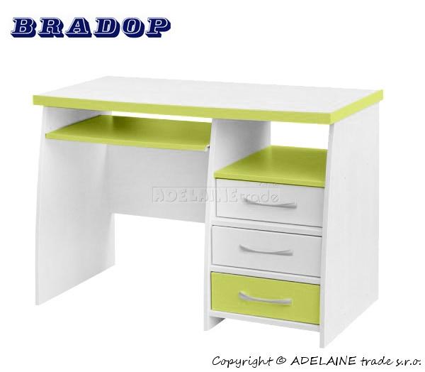 Psací stůl CASPER - Bradop JIM creme/zelený