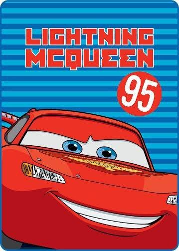 Licenční dečka velká - Cars červený