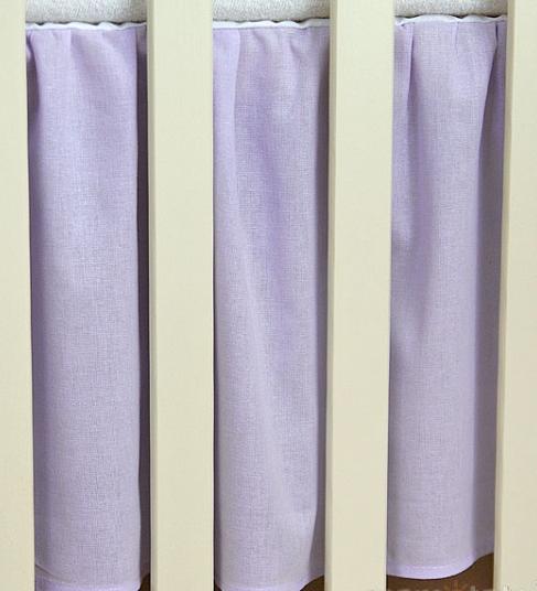 Krásný volánek pod matraci - Srdíčko lila