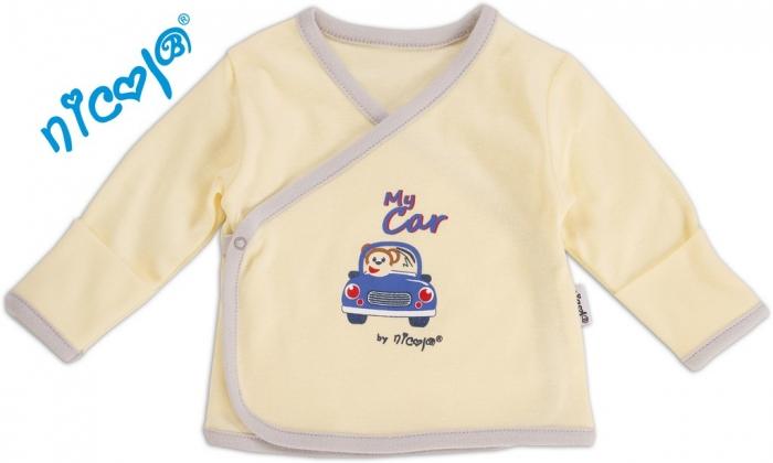 Novorozenecká košilka My Car - žlutá