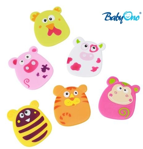 Baby Ono Veselé hračky do vody - přísavky - sada HOLKA