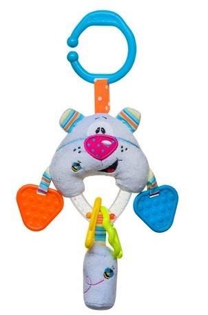 Edukační hračka s chrastítkem a kousátkem - Medvídek