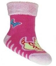Froté ponožky s ABS - dívčí mix vzorů