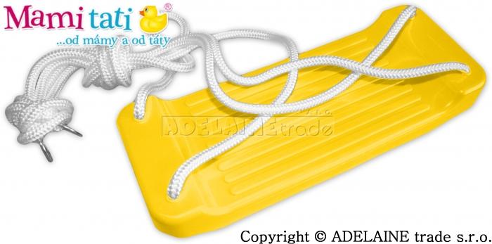 Plastová houpačka - žlutá