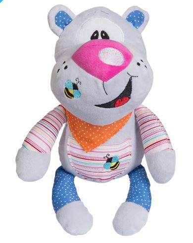 Edukační plyšová hračka s chrastítkem Baby Ono - Medvídek