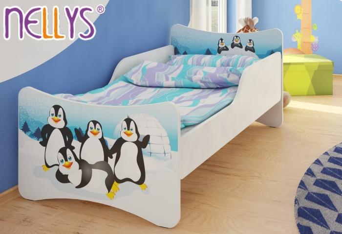 Dětská postel se zábranou Tučnáci