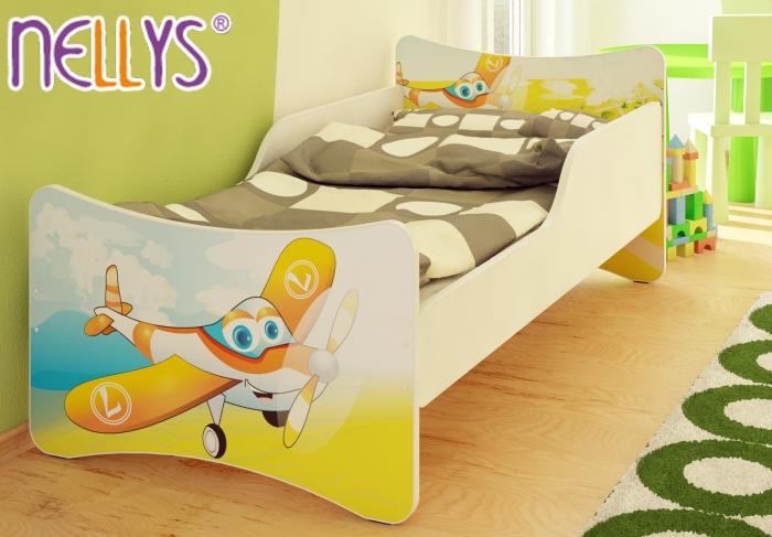 Dětská postel se zábranou Letadlo