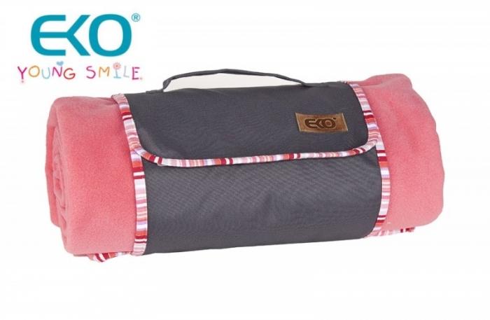Pikniková deka POLAR 150x150cm - růžová