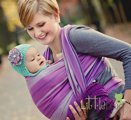 c6f8a337680 Little FROG Tkaný šátek na nošení dětí - AMETYST
