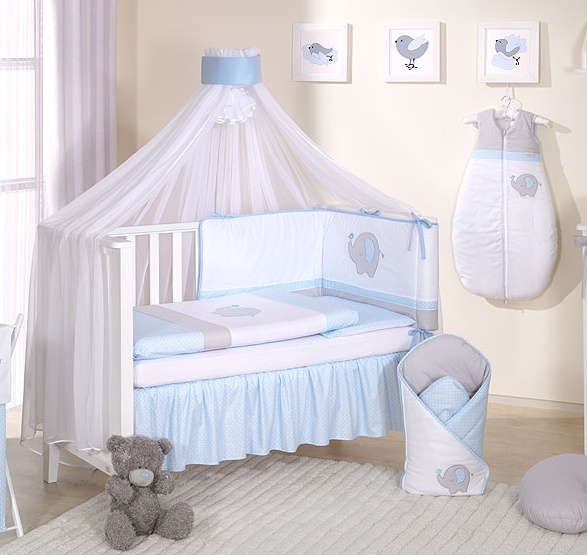 Mega set s moskytiérou LUX SLON - modrý