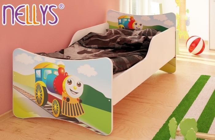 Dětská postel Veselá Lokomotiva