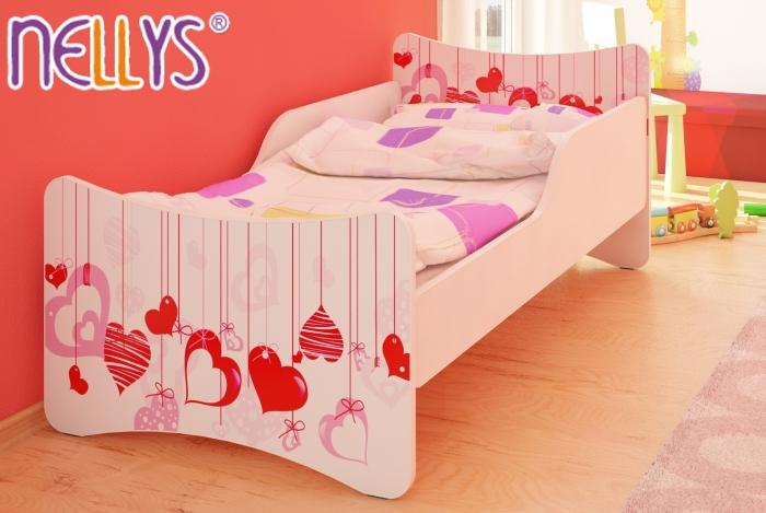 Dětská postel Srdíčka