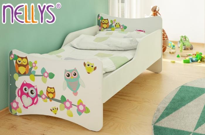 Dětská postel Sovy na stromě - 160x70 cm
