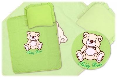 2-dílná sada do kočárku Medvídek Teddy Bear - zelená