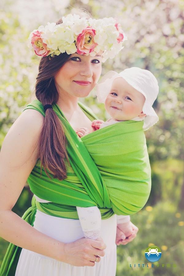 Little FROG Tkaný šátek na nošení dětí - BERYL