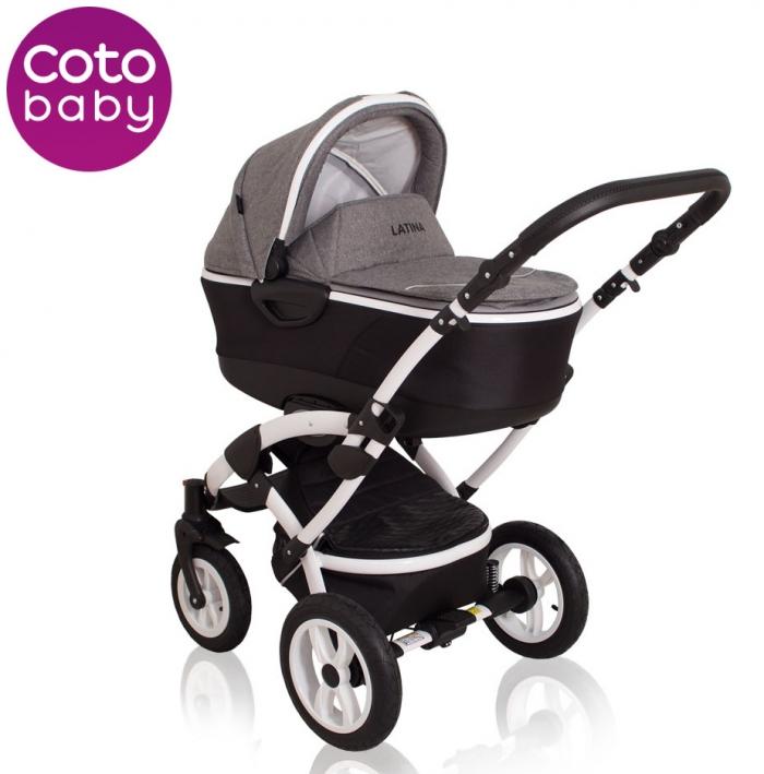 Kočárek LATINA Coto Baby 2v1 - grey - LEN