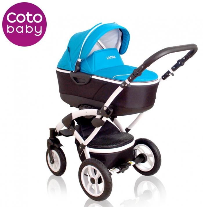 Kočárek LATINA Coto Baby 2v1 - blue/modrý