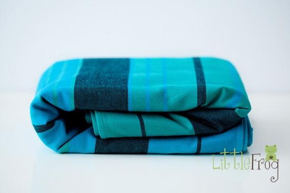 Little FROG Tkaný šátek na nošení dětí - Chryzokola