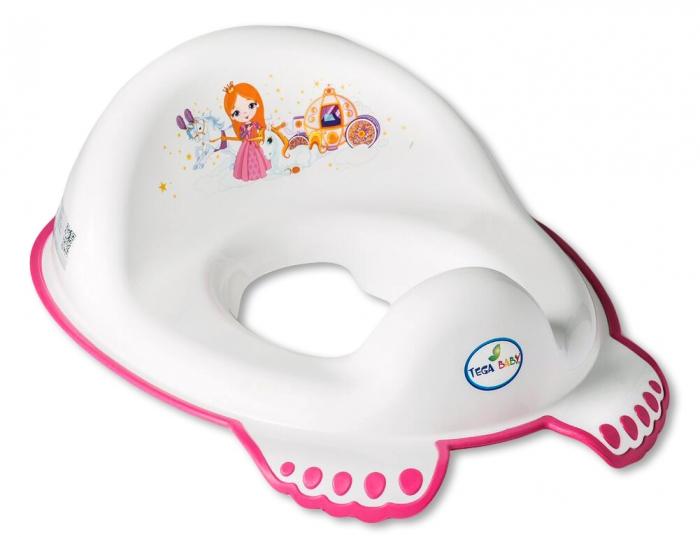 Dětská redukce/sedátko na WC TEGA BABY - PRINCEZNA - bílá