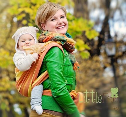 Little FROG Tkaný šátek na nošení dětí - Jaspis