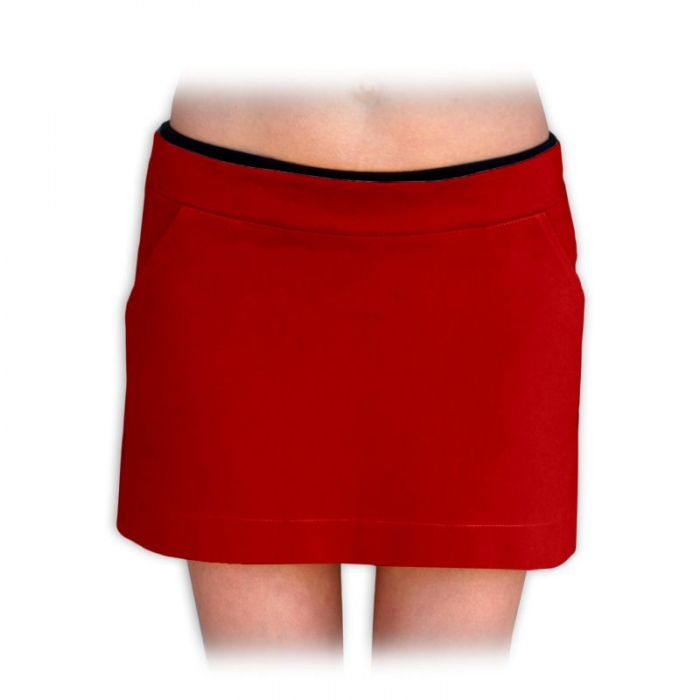 Boková denim sukně nejen pro těhotné - červená